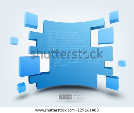 Vector illustration of 3d background, logo design - stock vector