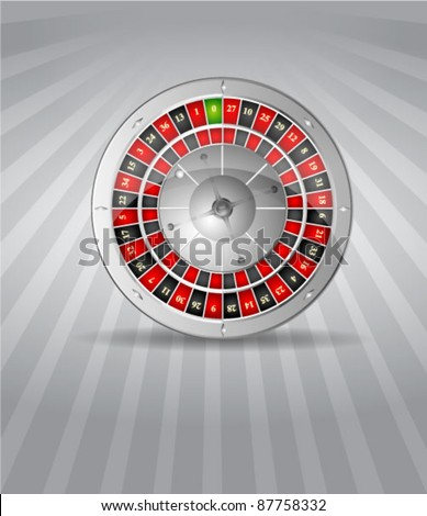 Vector illustration of 3D silver roulette - stock vector