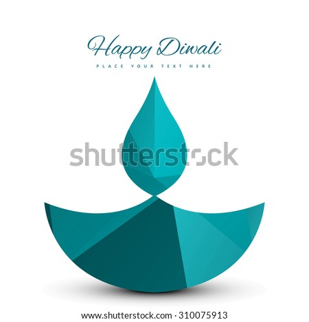 Vector Illustration of  decorative Diwali beautiful card colorful white background - stock vector