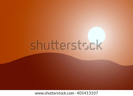 Vector illustration of  desert. Modern design EPS - stock vector