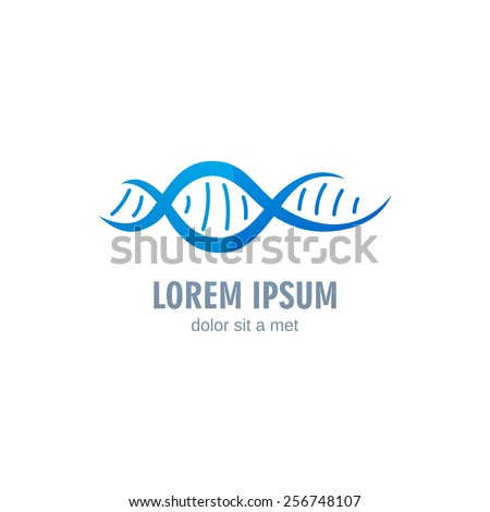 Vector Illustration of DNA Logo Design Template - stock vector