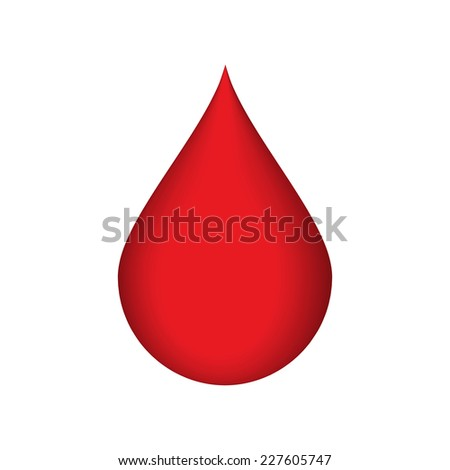 Vector illustration of Drop of blood - stock vector
