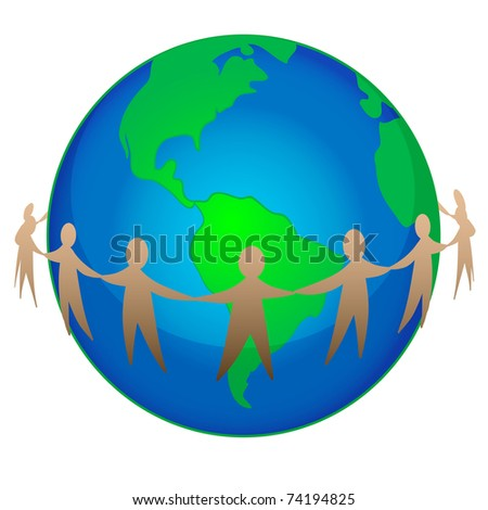 vector illustration of earth day concept - stock vector