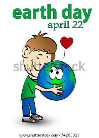 vector illustration of earth day graphic concept - stock vector