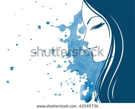 Vector illustration of elegance women - stock vector