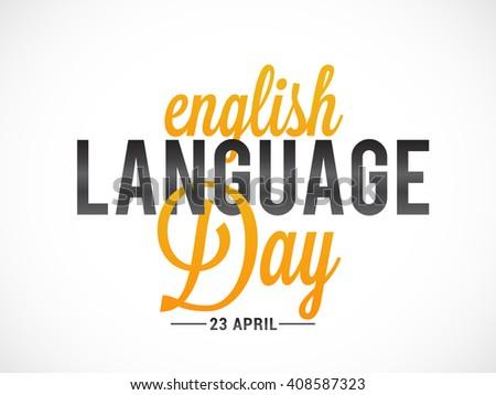 Vector illustration of English language day. - stock vector