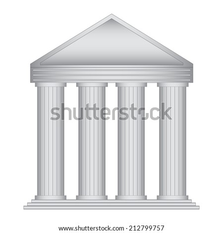 Vector illustration of entrance to the building - stock vector