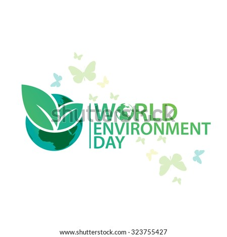 Vector illustration of  Environment Day - stock vector