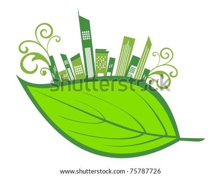 vector illustration of environmental concept wallpaper - stock vector