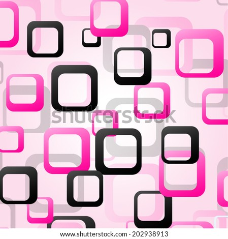 Vector illustration of fantasy background black and pink - stock vector