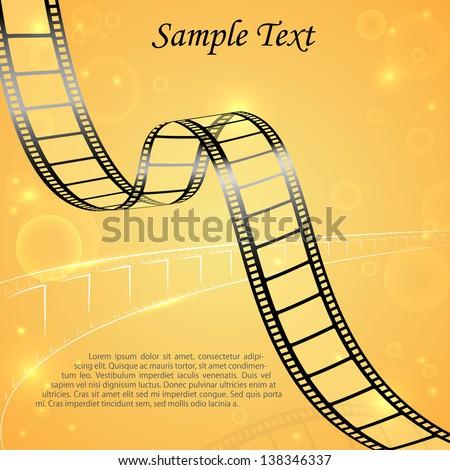 vector illustration of film strip for cinema designing - stock vector