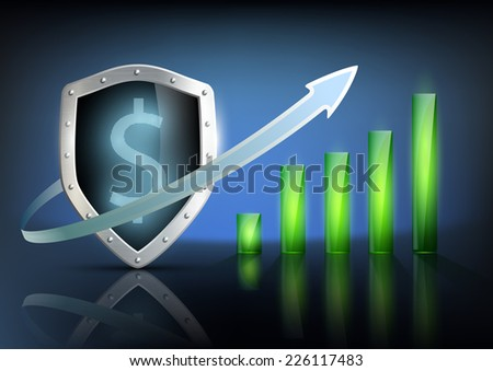 vector illustration of financial graph chart - stock vector