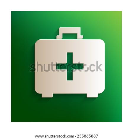 vector illustration of first aid box icon - stock vector