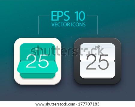 Vector illustration of flat beautiful calendar icon - stock vector