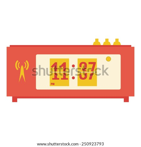 vector illustration of flat flip clocks - stock vector