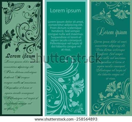 Vector Illustration of floral banners - stock vector