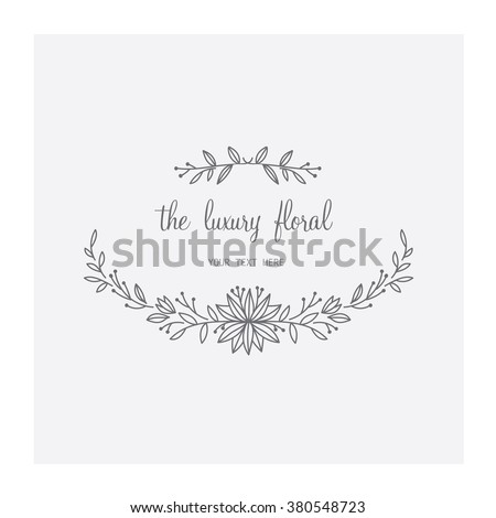 Vector illustration of floral Frame.  - stock vector