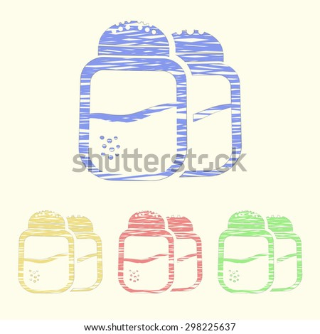 Vector illustration of food icon - stock vector