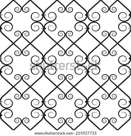 Vector illustration of forged seamless pattern. Clip art. - stock vector