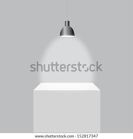 Vector illustration of Gallery with light - stock vector