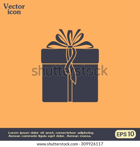Vector illustration of gift box - stock vector