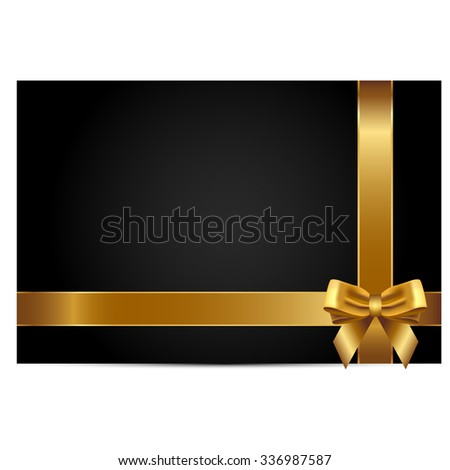 Vector illustration of gift card - stock vector