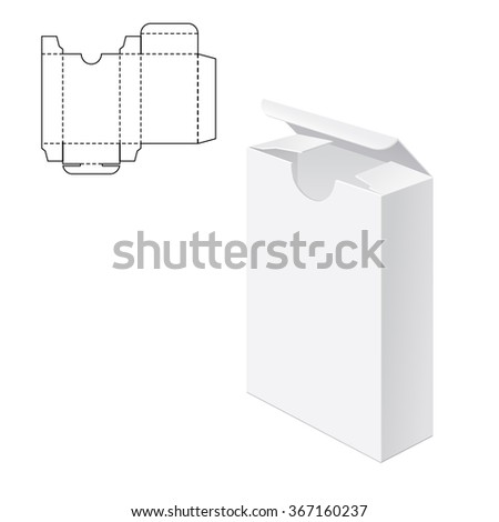 Vector Illustration of Gift craft Box for Design, Website, Background, Banner. Folding package Template. Fold pack with die line for your brand on it - stock vector