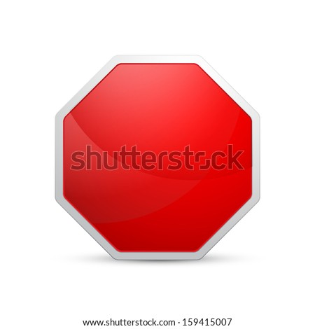 Vector illustration of glossy empty sign - stock vector