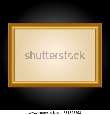 Vector illustration of Gold Frame - stock vector