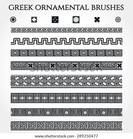 Vector Illustration of Greek Ornamental Border for Design, Website, Background, Banner. Use National Element in Invitation or Brand Style Template - stock vector