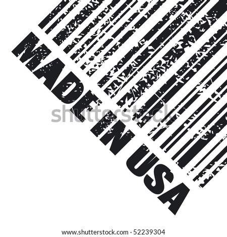 "Vector illustration of grunge stamp marked ""Made in USA"" - stock vector"