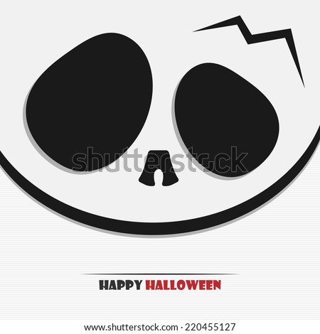 Vector illustration of Halloween skull for your design - stock vector