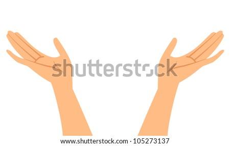 Vector illustration of hands - stock vector