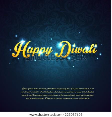 Vector illustration of Happy Diwali - stock vector