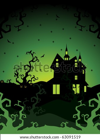 vector illustration of happy halloween background, illustration - stock vector