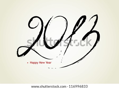 Vector illustration of Happy new year 2013 - stock vector