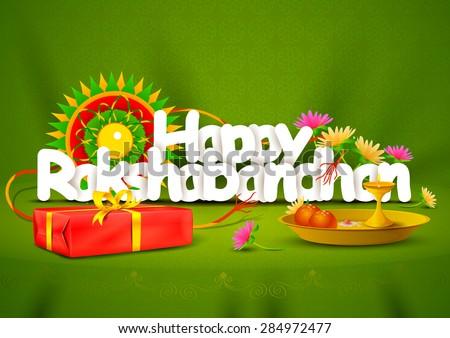 vector illustration of Happy Rakshabandhan wallpaper background - stock vector
