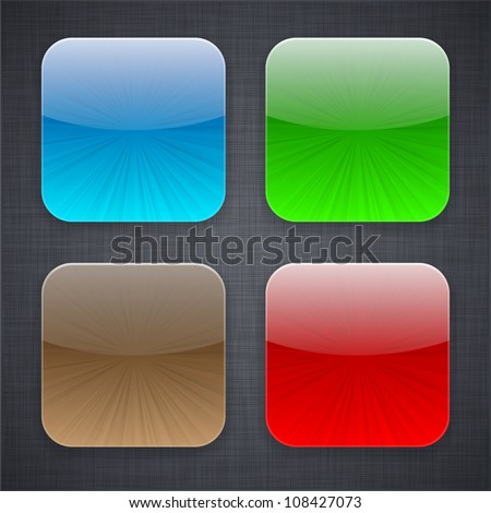Vector illustration of high-detailed apps icon templates. - stock vector
