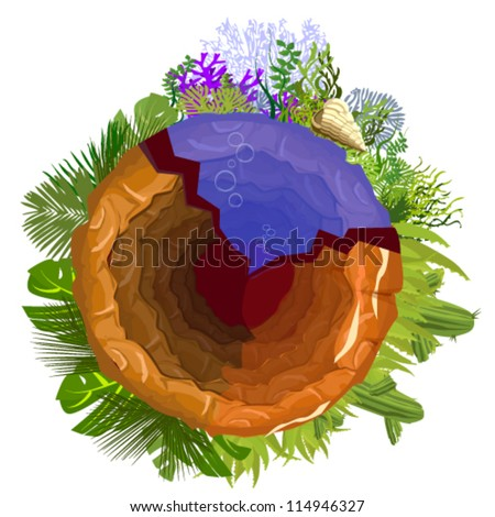 Vector Illustration of hole in the ground - stock vector