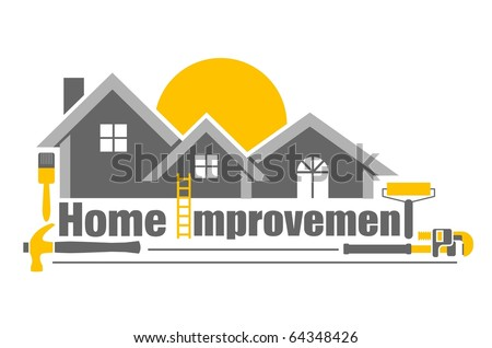 Vector illustration of home improvement icon - stock vector