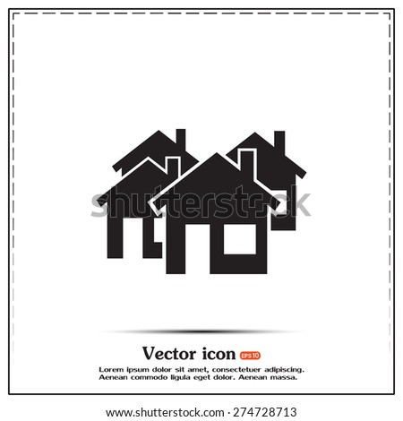 vector illustration of houses - stock vector