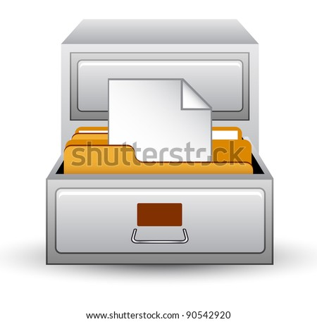 Vector illustration of index on white background - stock vector