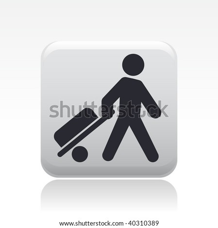 Vector illustration of isolated buy icon - stock vector