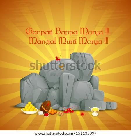 vector illustration of Jai Lord Ganesha - stock vector