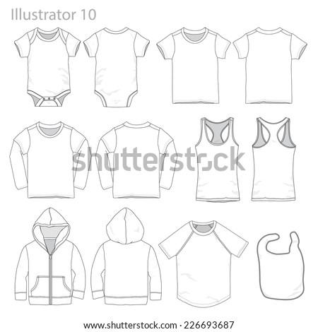 Vector Illustration of Kid's garments. - stock vector