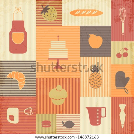 Vector Illustration of Kitchen Tools - stock vector