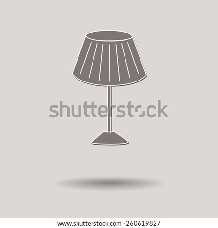 Vector illustration of  Lamp color background. - stock vector