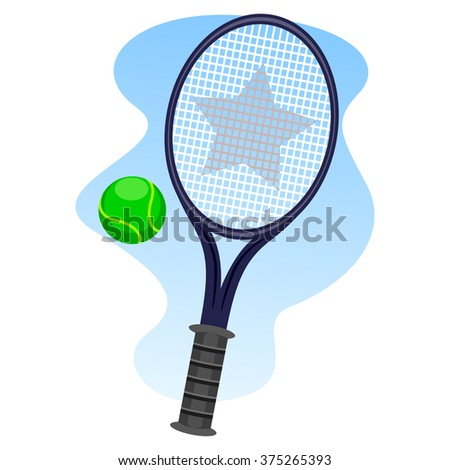Vector Illustration of Lawn Tennis - stock vector