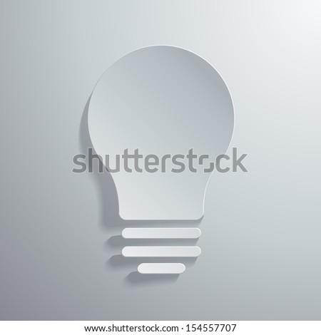 Vector illustration of light bulb icon - stock vector