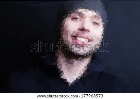 Vector illustration of man - stock vector